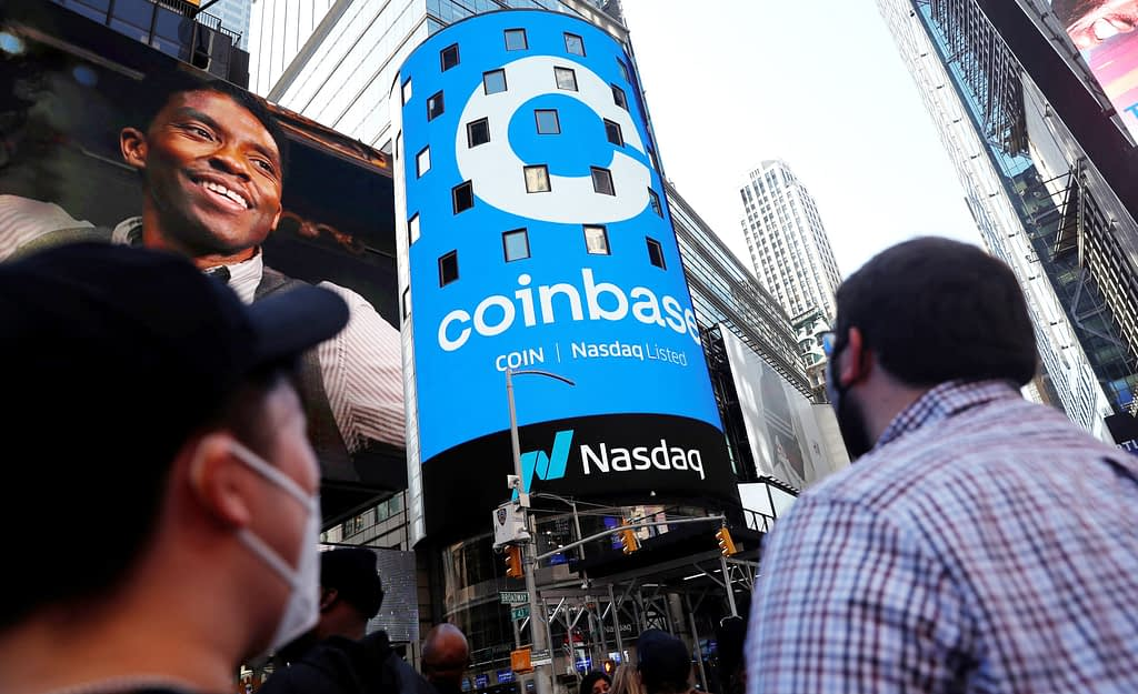 Coinbase shares fall after it reveals SEC plans to sue
