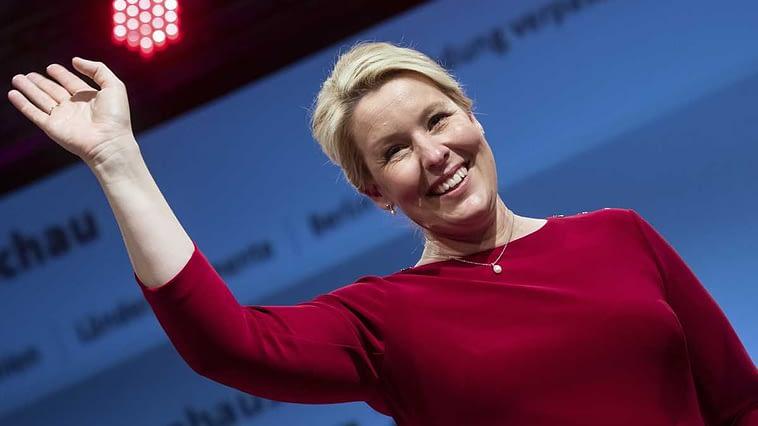 Franziska Giffey, Election to the House of Representatives - SPD Election Party